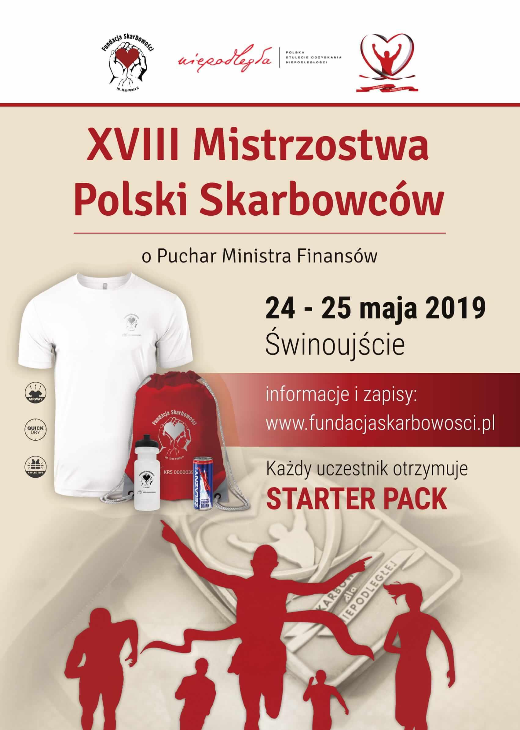 XVIII Mistrzostwa Polski Skarbowców,  Świnoujście, 24 – 25 maja 2019