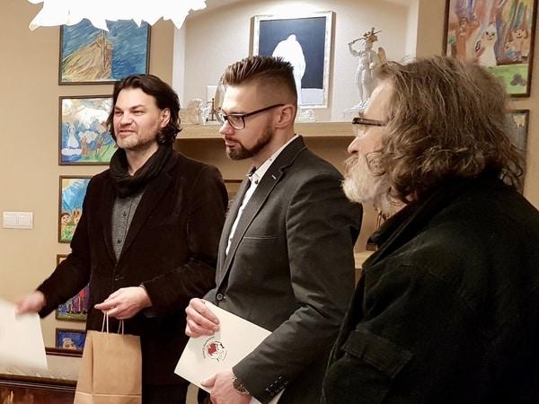 Artyści – plastycy: Marek Iwiński, Julian Nowicki, Stanisław Stasiulewicz wybrali najlepsze prace VIII Międzynarodowego Konkursu Plastycznego