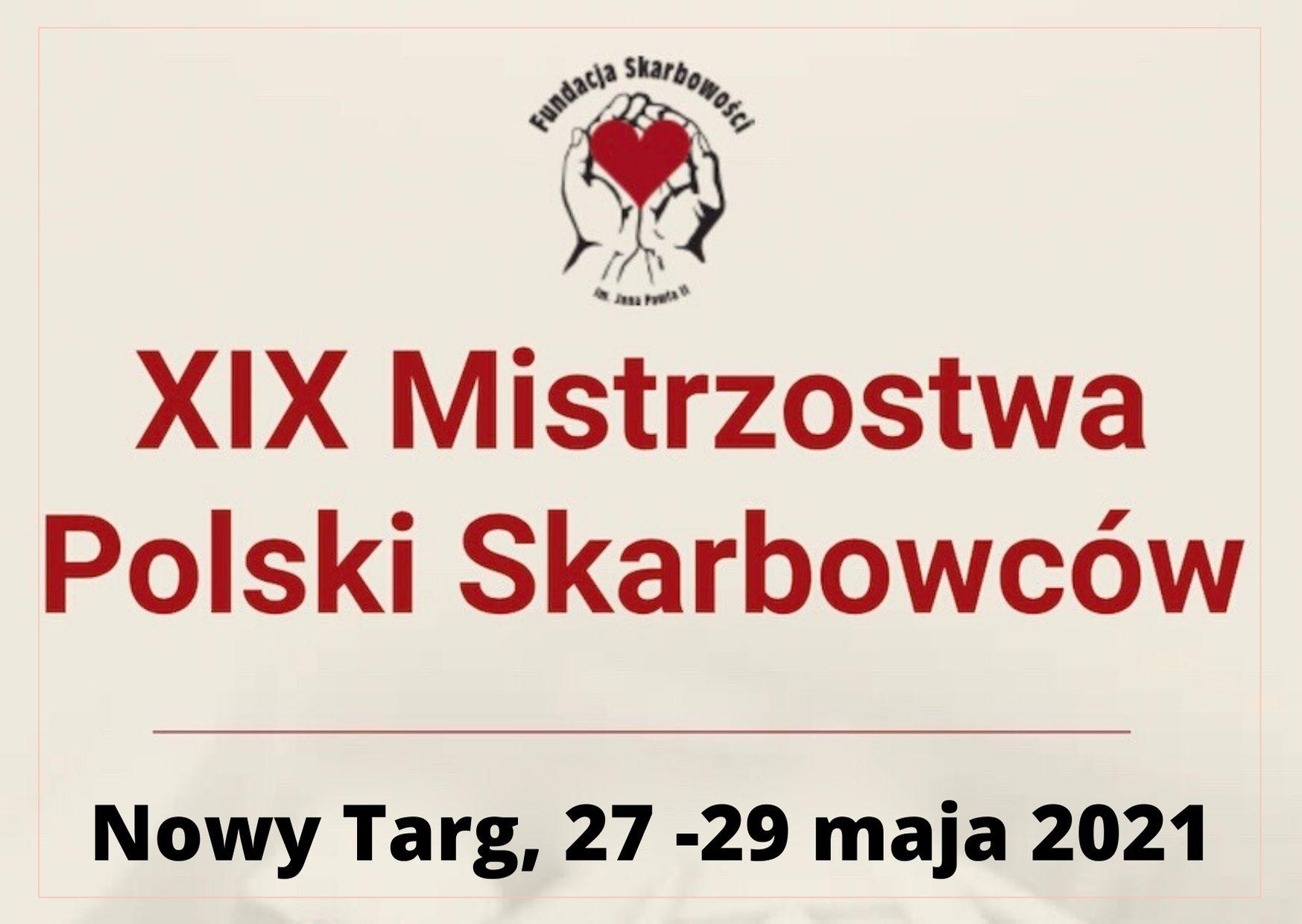 XIX Mistrzostwa Polski Skarbowców przeniesione na 27.05.2021 -29.05.2021/Nowy Targ