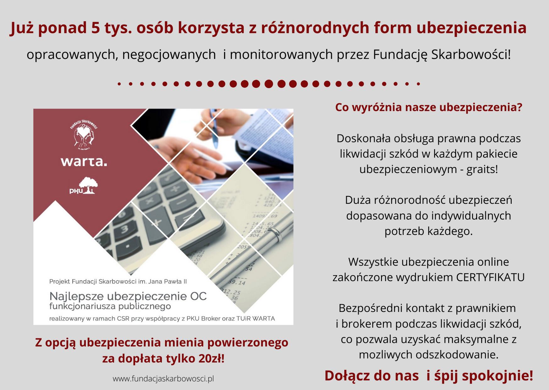OC dla KAS online 2020/2021 – najlepsze OC majątkowe oraz OC mienia powierzonego z gwarantowaną obsługą prawną.